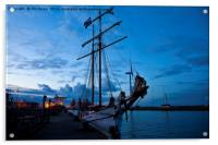 Safely berthed for the night, Acrylic Print