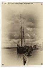 Antique Plate Tall Ship, Acrylic Print