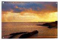 Cullercoats in watercolours, Acrylic Print