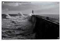 Stormy weather at Tynemouth, Acrylic Print