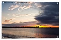 Sunrise over the piers, Acrylic Print