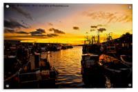 North Shields Fish Quay at Dusk, Acrylic Print