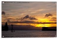 Between the piers, Acrylic Print