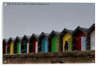 Beach Huts for hire - Heating optional, Acrylic Print