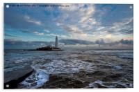 Winter dawn at St Mary's Island (2), Acrylic Print
