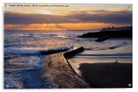 New day on Cullercoats Bay, Acrylic Print