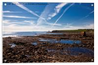 Collywell Bay at low tide, Acrylic Print