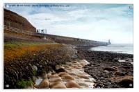 Low tide at Tynemouth, Acrylic Print