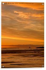 Northumbrian November Seascape, Acrylic Print