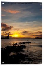 Northumbrian daybreak, Acrylic Print