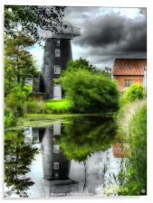 Norton Marsh Mill, Acrylic Print