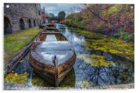 Canal Boat, Acrylic Print