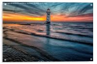Beach Sunset, Acrylic Print