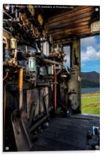 Steam Locomotive Footplate, Acrylic Print
