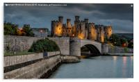 Conwy Castle by Lamplight, Acrylic Print