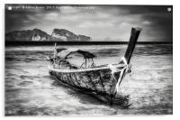Longboat Thailand, Acrylic Print