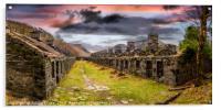 Quarry Sunset Snowdonia, Acrylic Print