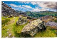 Quarry Steps Snowdonia, Acrylic Print