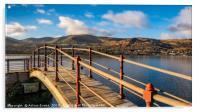 Padarn Lake Footbridge, Acrylic Print