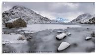 Icy Shore In Winter, Acrylic Print