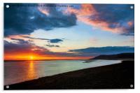 Sunset Seascape Wales, Acrylic Print