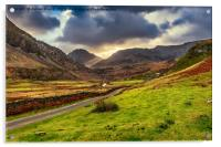 Roman Road To Snowdonia, Acrylic Print