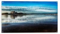 Brancaster beach and golf club, Acrylic Print
