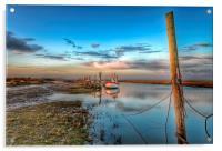 High tide Thornham in Norfolk, Acrylic Print