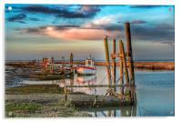 High tide at Thornham quay, Acrylic Print