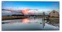 Sunset reflections Thornham, Acrylic Print