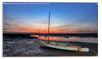 After the sunset Brancaster Staithe, Acrylic Print