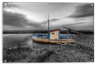 Fishing boat at Thornham in Norfolk, Acrylic Print