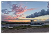 Sunset over the Staithe , Acrylic Print