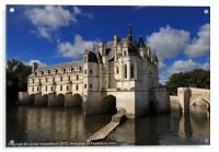 Chateau Chenonceau, Loire Valley, France, Acrylic Print