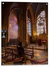 Interior of Notre Dame Cathedral, Paris, Acrylic Print