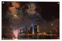 Hudson River Fireworks IV, Acrylic Print