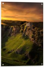 Peveril castle, Acrylic Print