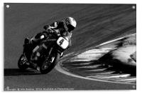 Racing bikes at Snetterton racetrack , Acrylic Print