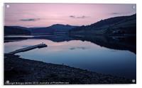 Ladybower Reservoir at Dusk, Acrylic Print