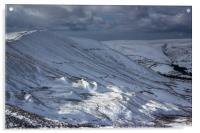 The Great Ridge In Winter, Acrylic Print