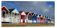 Southwold Beach Huts, Acrylic Print