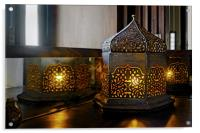 Oriental light table lamp corner table, Acrylic Print