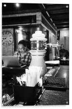 Moody Blues Bar, Acrylic Print