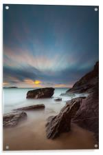Lust Glaze Cove at Sunset - Long Exposure, Acrylic Print
