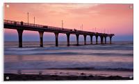 New Zealand Sunset Pier, Acrylic Print
