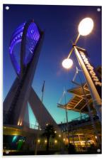 Portsmouths Spinnaker Tower Illuminated at dusk, Acrylic Print