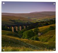 Yorkshire Dales Railway Viaduct, Acrylic Print