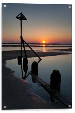 West Wittering Sunset, Acrylic Print