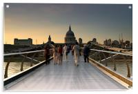 Millennium Bridge - London, Acrylic Print