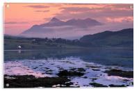 Cuillin Hills Sunset, Skye, Acrylic Print